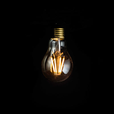 A60 GLS 6W LED Filament Light Bulb E27 Clear Glass 2200k | Superior Quality LED Light Globes | Vintage LED