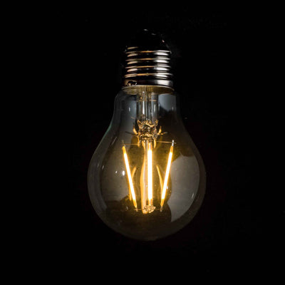 A60 GLS 3W LED Filament Light Bulb E27 Clear Glass 2200k | Superior Quality LED Light Globes | Vintage LED