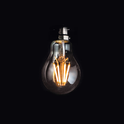 A60 GLS 6W LED Filament Light Bulb B22 Clear Glass 2200k | Superior Quality LED Light Globes | Vintage LED