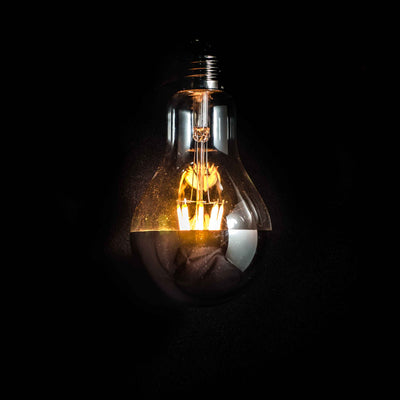 A80 LED Filament 6W E27 Clear Glass Gold Cap Bulb | LED light globes | Vintage LED