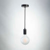Black Metal Pendant with G125 Frosted Bulb