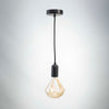 Matt Black Metal E27 Pendant with Diamond Filament 6W LED Bulb | LED light globes | Vintage LED