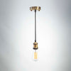 Brass Metal E27 Pendant with ST64 Pear Shaped LED 6W Bulb | LED light globes | Vintage LED
