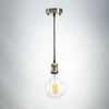 Copper Metal E27 Pendant with G125 Round LED 8W Bulb | LED light globes | Vintage LED
