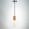Cork pendant E27 and G150 LED Filament Bulb Clear Glass 10W | LED light bulbs | Vintage LED