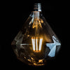 Diamond LED filament 6W E27 standard screw smoked glass bulb | LED light globes | Vintage LED