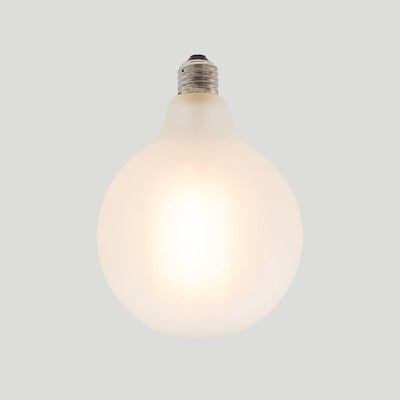 G125 porcelain frosted round glass bulb 8W E27 Standard Screw 2700k | LED light globes | Vintage LED