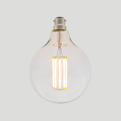 G125 Long LED Filament 8W B22 Bayonette Clear Glass Bulb | LED light globes | Vintage LED