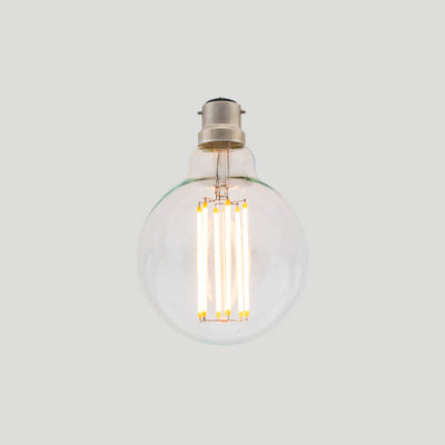 G95 Long LED Filament 6W 2200k B22 bayonet round bulb | LED light globes | Vintage LED