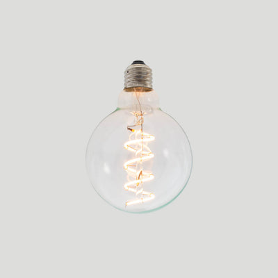 G95 Soft Spiral LED Filament 5W 2200k E27 screw round bulbs | LED light globes | Vintage LED