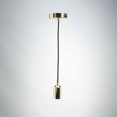 Gold E27 Metal Pendant