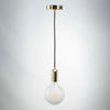 Gold E27 Pendant with G125 round frosted glass LED filament 10W bulb  | LED light globes | Vintage LED