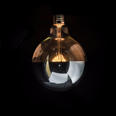 G125 LED Filament Silver Cap 6W E27 Clear Glass Bulb | LED light globes | Vintage LED