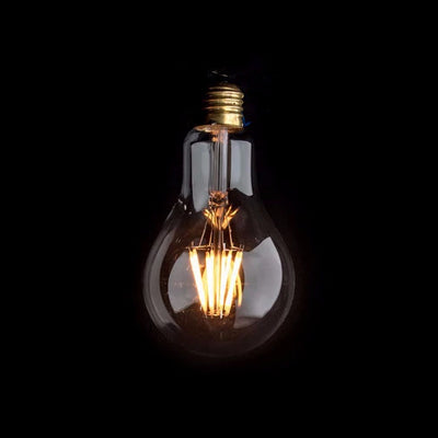 A80 LED Filament 6W E27 Clear Glass Bulb | LED light globes | Vintage LED