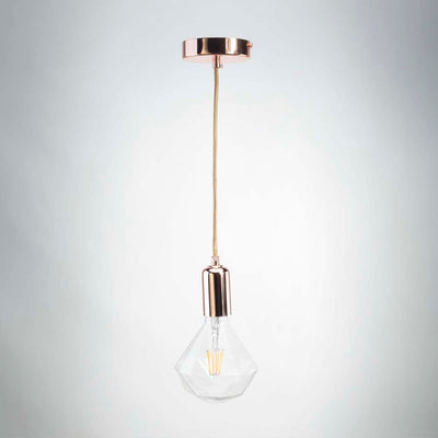Rose gold metal pendant E27 | Vintage LED