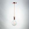 Rose Gold E27 Pendant with G125 round frosted glass LED filament 10W bulb  | LED light globes | Vintage LED