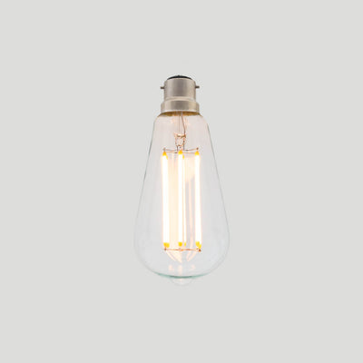 ST64 Long LED Filament 6W 2200k tear drop bulb B22 bayonet | LED light globes | Vintage LED