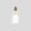 ST64 8W LED Long Filament Light Bulb E27 3000K Clear Glass | Superior Quality LED Light Globes | Vintage LED