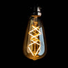 ST64 Long LED Filament Trilateral 4W tear drop bulb B22 smoked glass | LED light globes | Vintage LED
