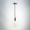 Silver Metal E27 Pendant with G125 Round Clear Glass 6W Bulb | LED light globes | Vintage LED