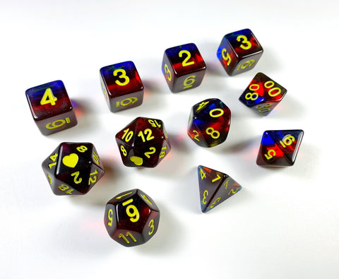 HeartBeatDice - Polyamory Dice Sets