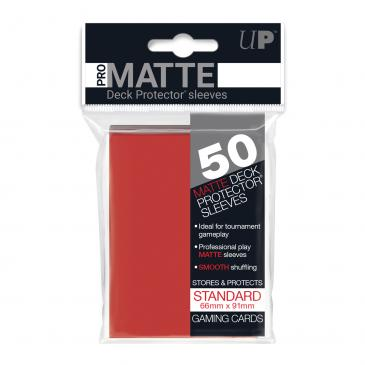 Pro Matte Red Sleeves Standard 50