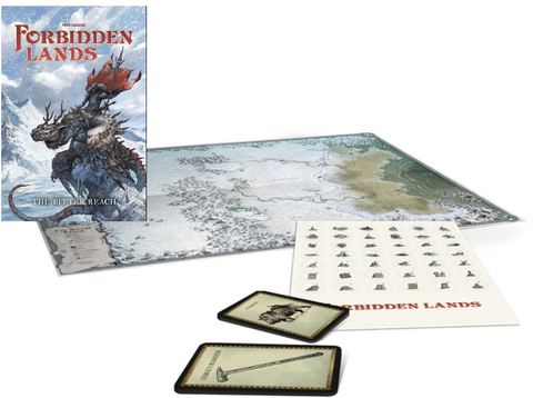 Forbidden Lands -  Bitter Reach Map & Cards Pack (Free PDF Included!)