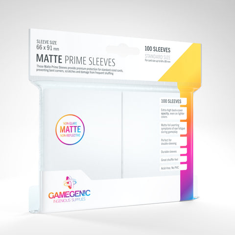 Gamegenic Matte Prime Sleeves White 100