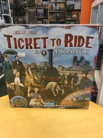 Ticket To Ride France & Old West Map
