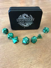 Premium Green-Yellow aluminium metal Dice