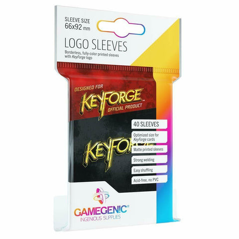 Keyforge Logo Sleeves Black (40)