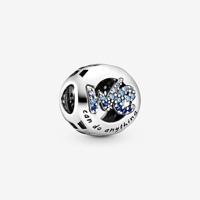 925 Sterling Silver Mushu Openwork Music Notes Daisy Flower Bouquet DIY fine beads Fit Original Pandora Charm Bracelet Jewelry