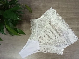 Plus Size XXXL Open Erotic Women Sexy Crotch Briefs Mesh Lingerie Transparent Lace Intimates Panties Underwear Big Underpants
