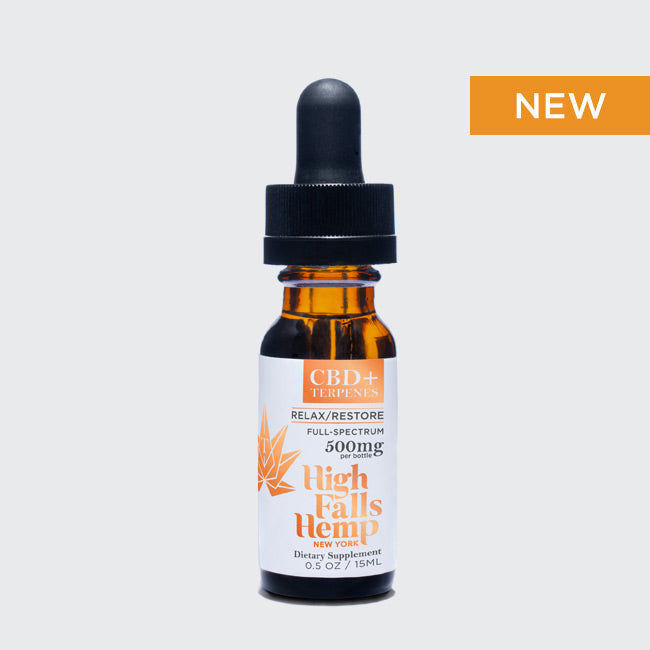 CBD Full-Spectrum + Terpene Tincture Mini:  Relax & Restore 500mg