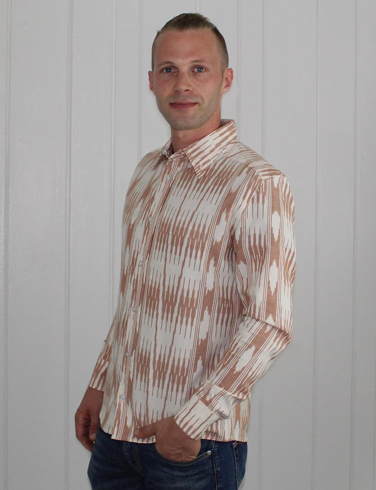 Banded Stripes Men's Button Down Shirt