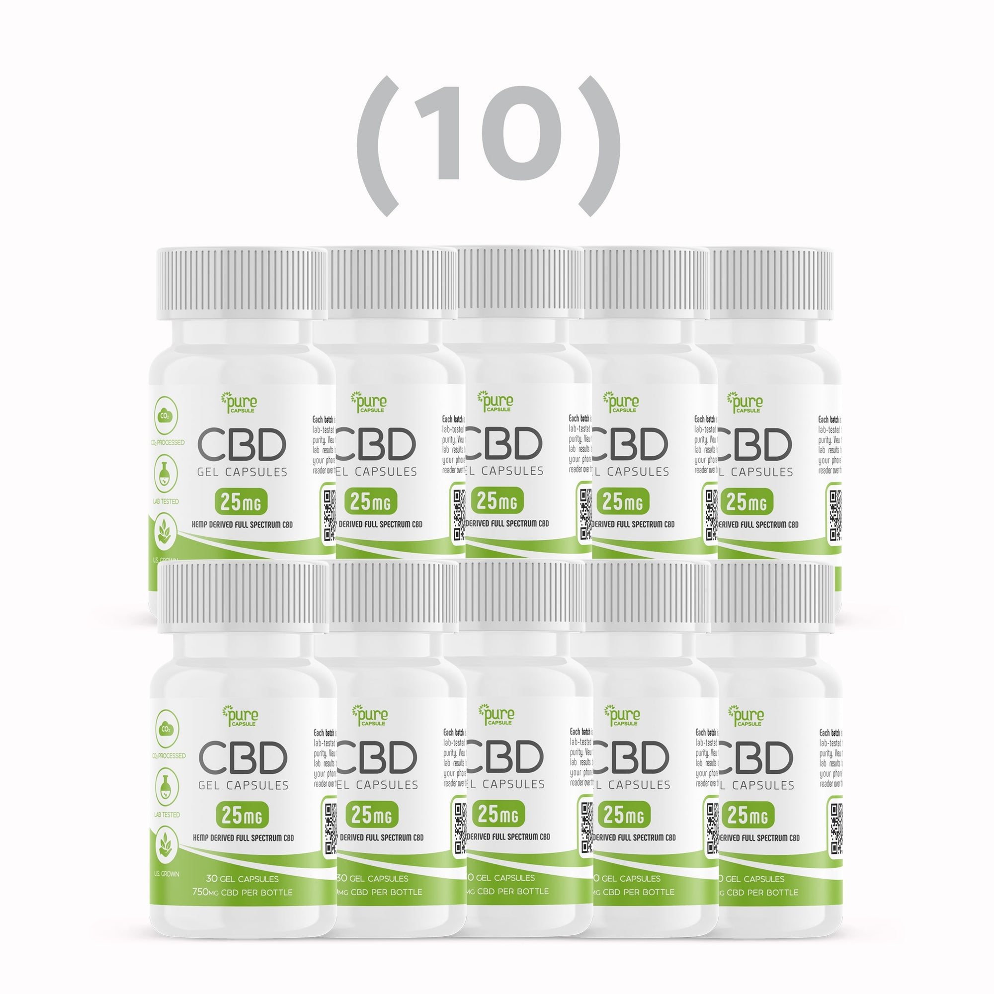 Bulk Deal: 300 CBD Gel Capsules (10 Bottles)
