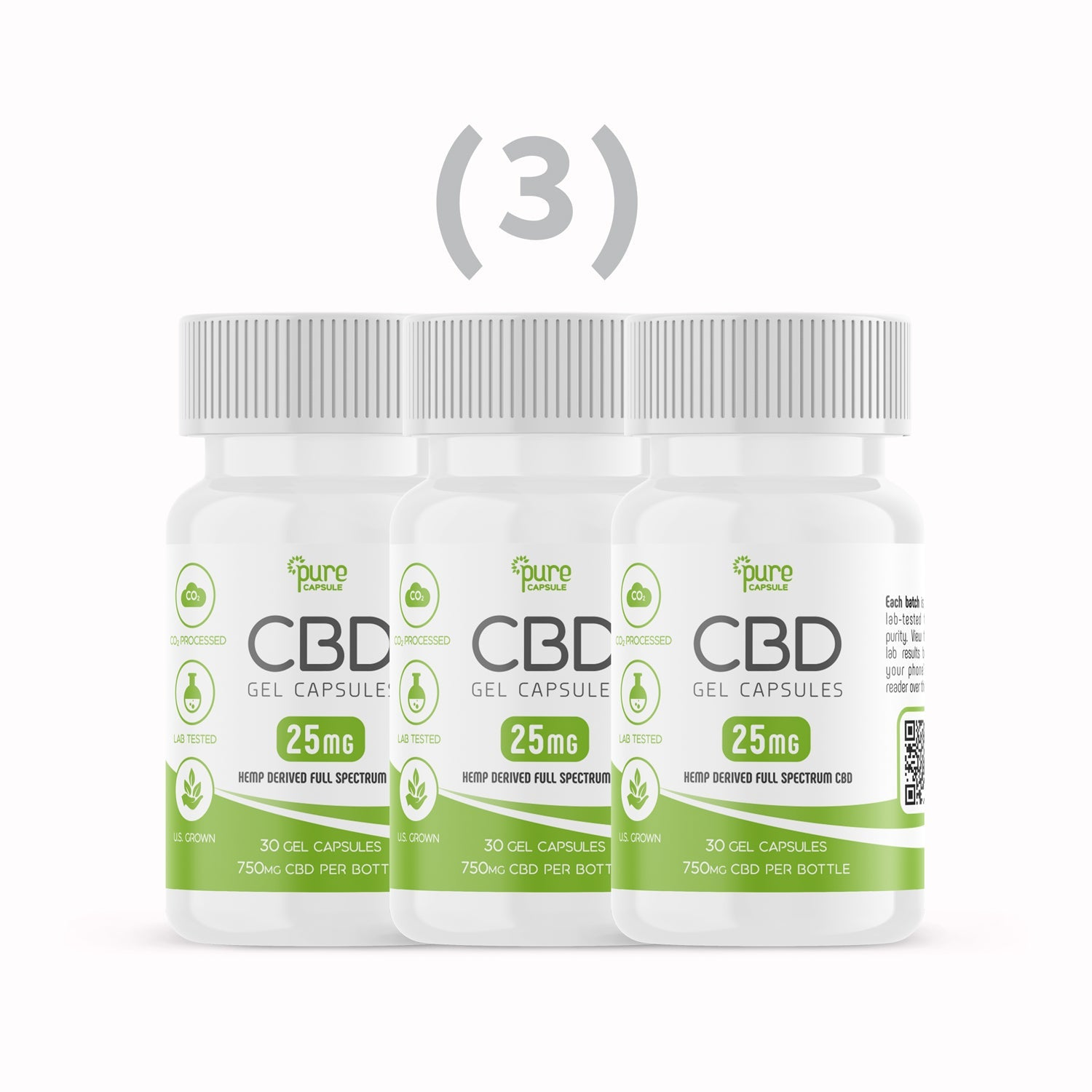 Spectrum CBD Gel Capsules- (90) 25 mg