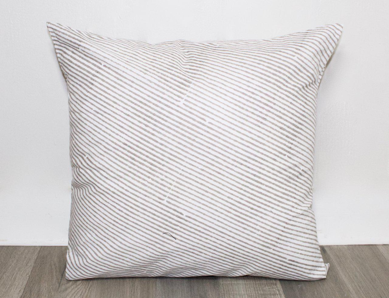 Diagonal Stripe Throw Pillow Cover