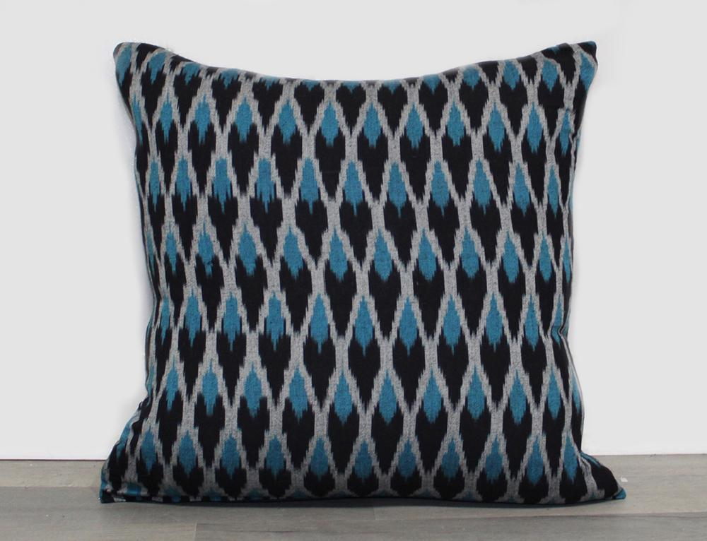 Ikat Plume Throw Pillow Cover