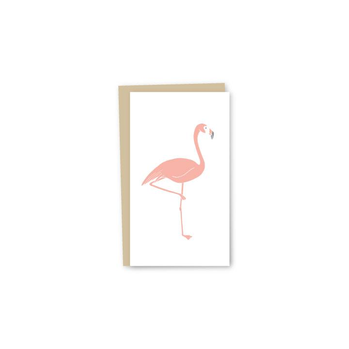 Flamingo Letterpress Mini-Card