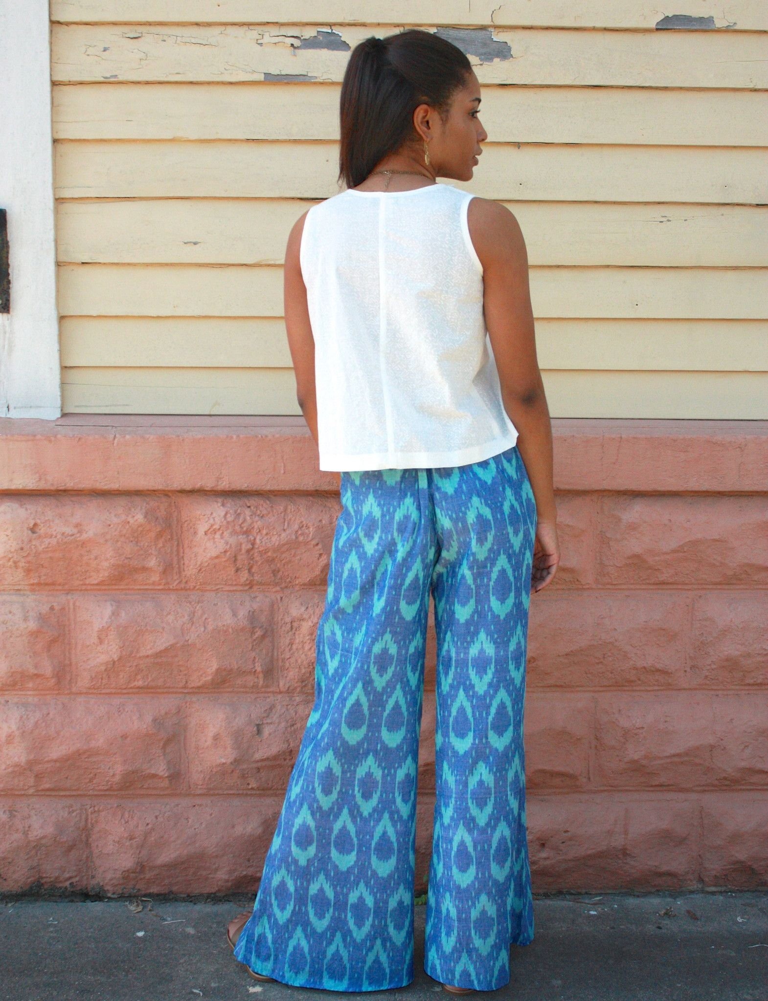 Blue Wave Pants