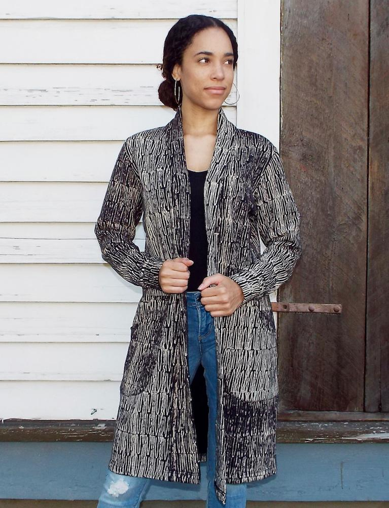 The Rhea Organic Fleece Cardigan