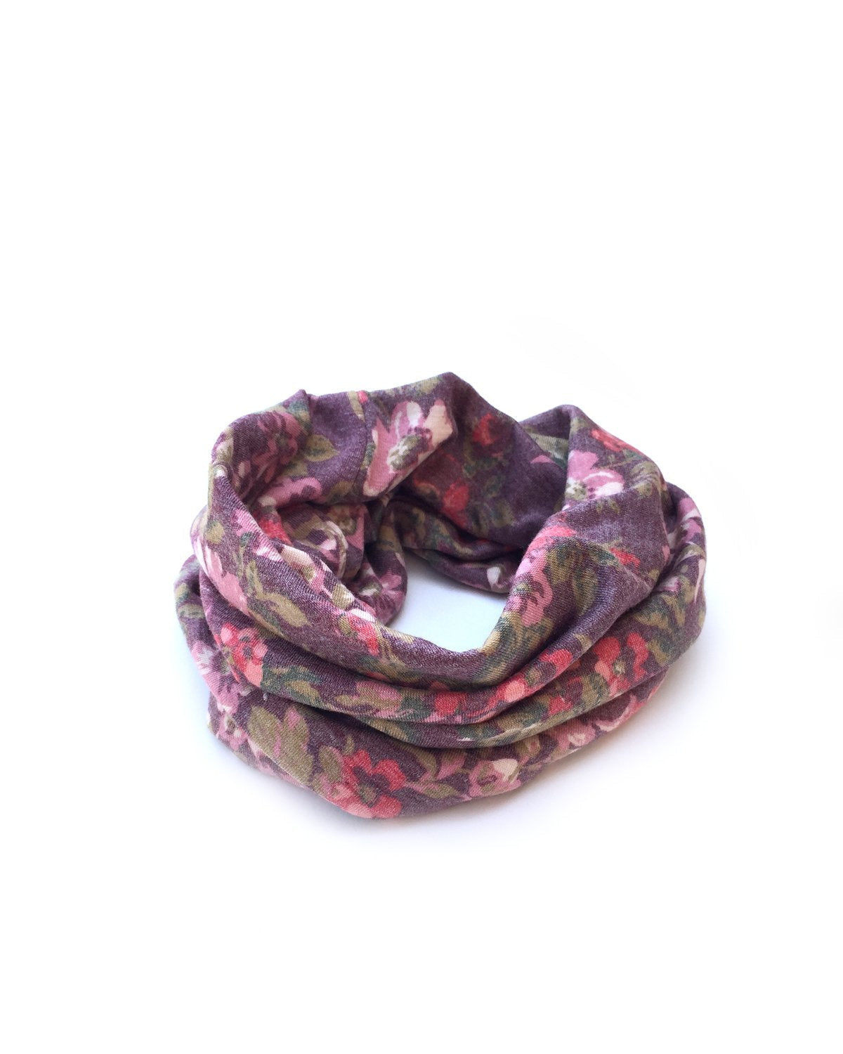 Mulberry Fall Floral Gaiter Mask