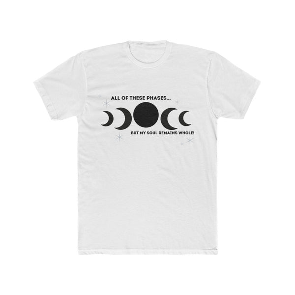 Moon Phases T-Shirt (Black Text)