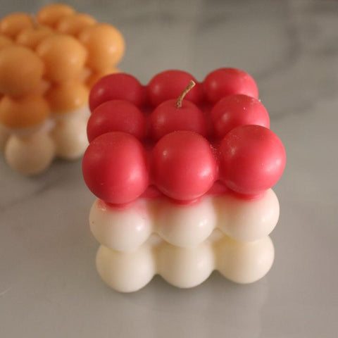 Two Tone Bubble Candle