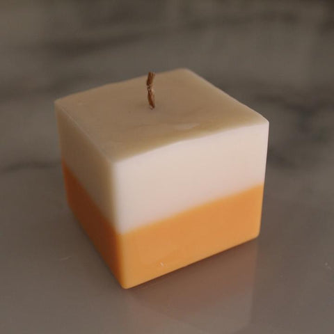 Two Tone Votive Cube Candle