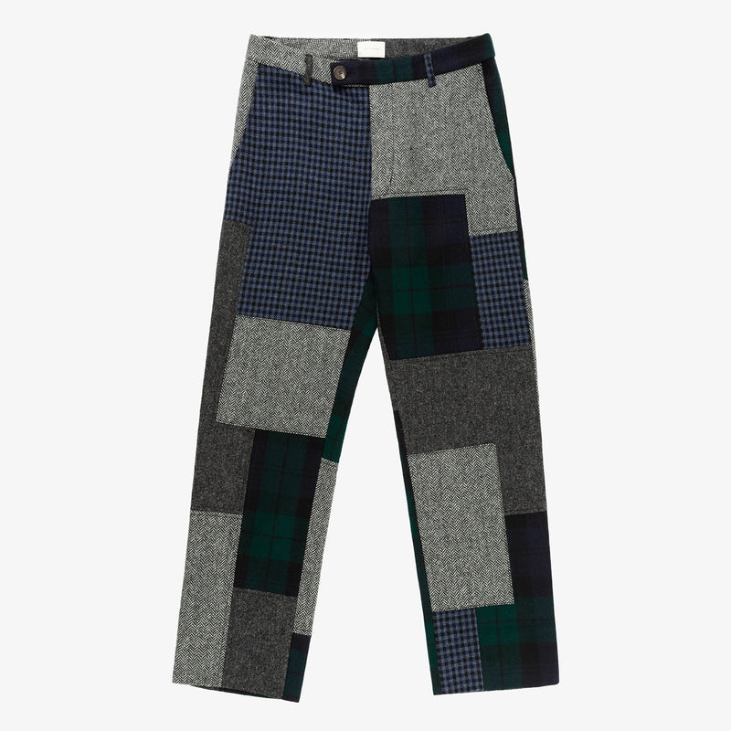 Wool Patchwork Pant