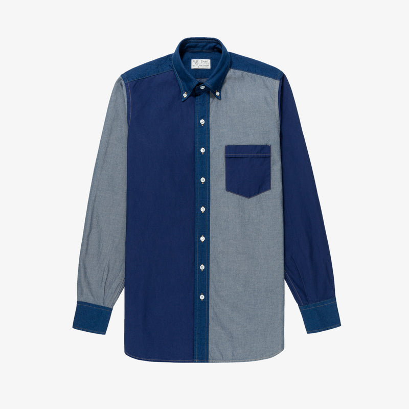 ALD / Drake's Block Denim Shirt