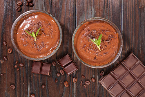 CHERRY & DARK CHOCOLATE MOUSSE – SERVES 4