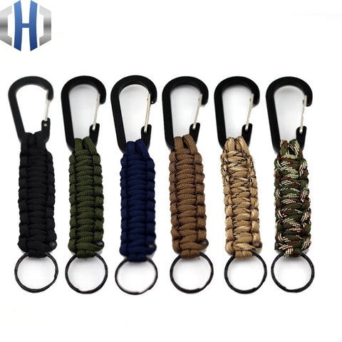 EDC 1PC Parachute Cord Keychain and Carabiner